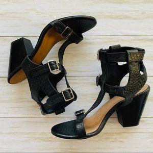 Seychelles Double T Strap Leather Sandals Sz 9.5